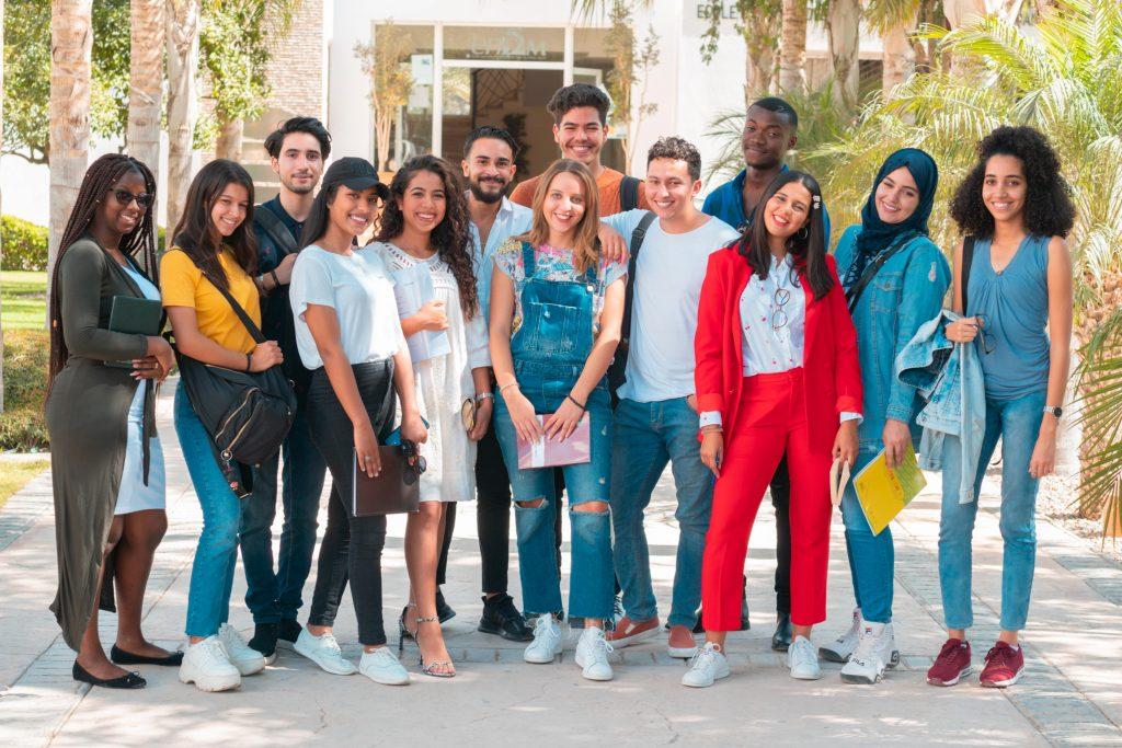 des étudiants de l'Universiapolis de différentes nationalités .